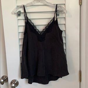 Zara black silk camisole
